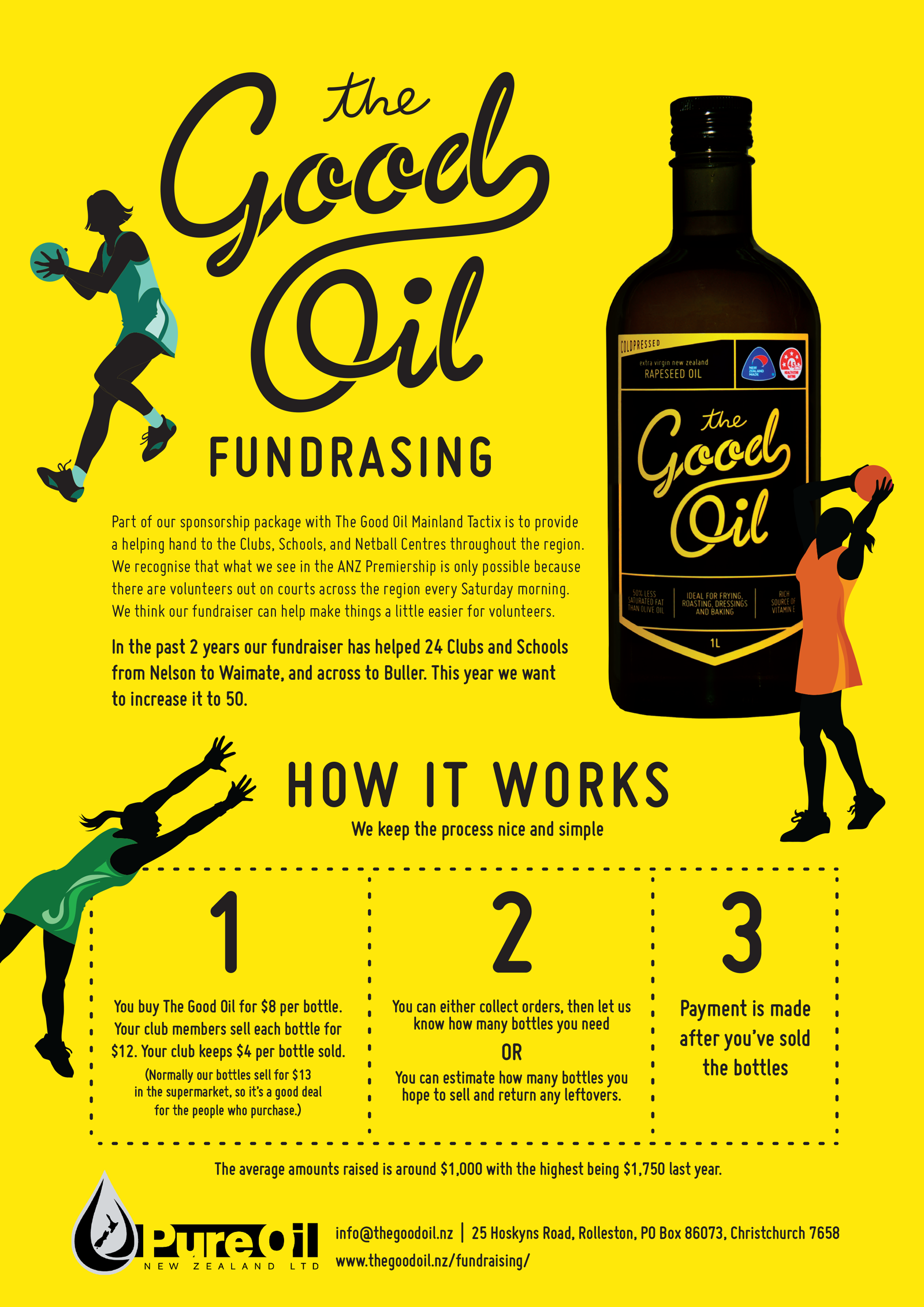PURE OIL The Good Oil Fundraising Flyer
